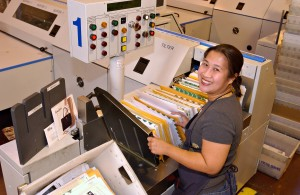 36,000 pieces per hour makes this postal worker smile.